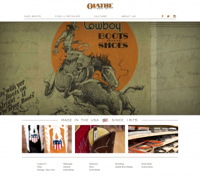 Olathe Boots Website