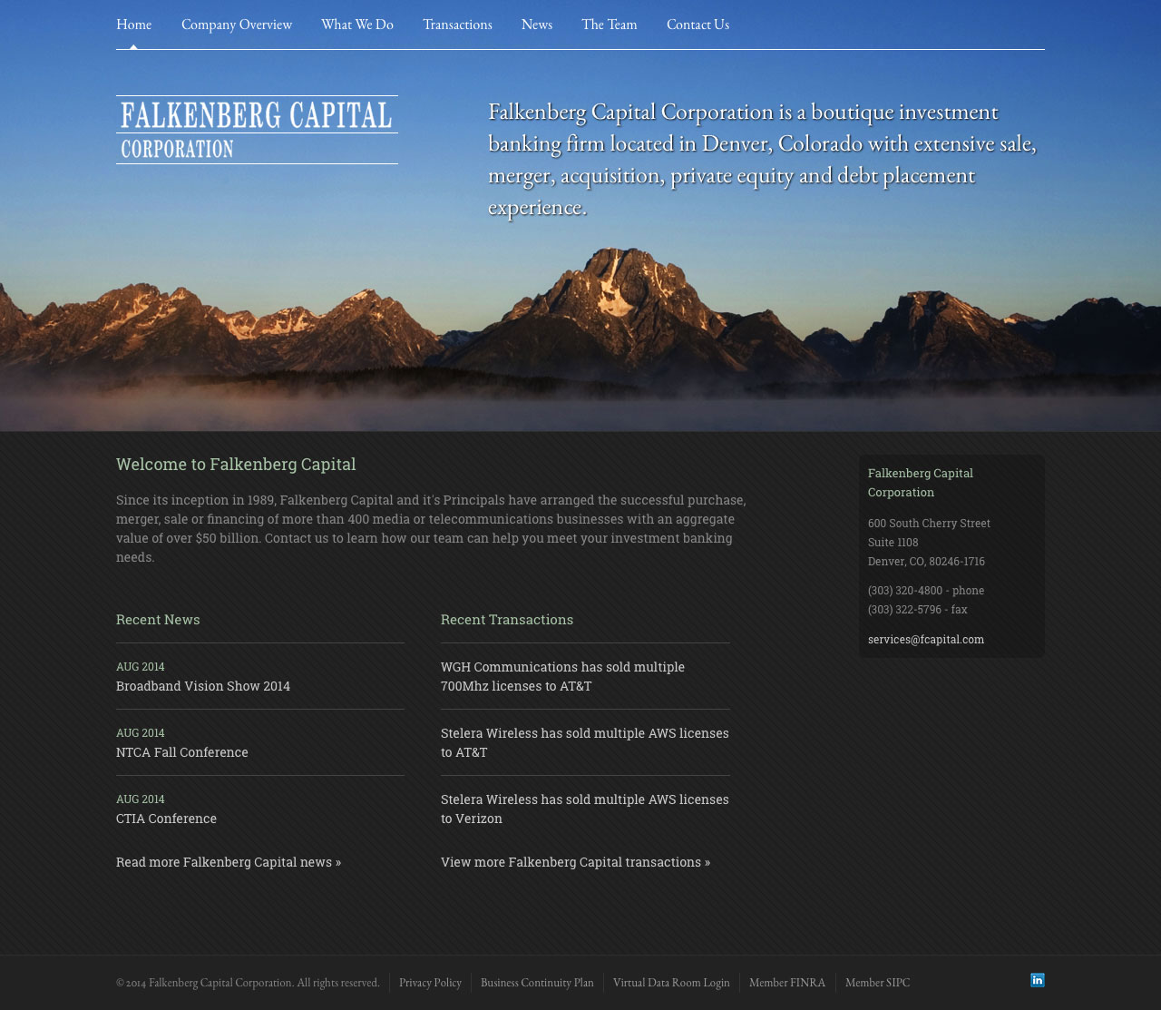 Falkenberg Capital Website